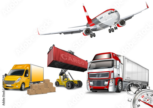 Transport - Logistik - Warenlieferung
