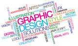 Fototapety Graphic design colored word tag cloud template illustration