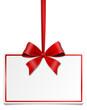 Geschenkkarte Schild Schleife