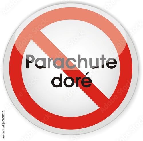 panneau parachute doré