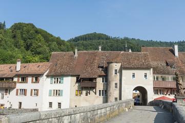 Saint Ursanne, Eingangstor, Sankt Johanns-Tor, Jura, Schweiz