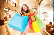 happy shopping mall colorful bags