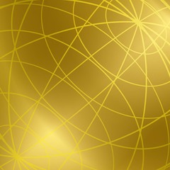 gold vector background with shiny meridian lines