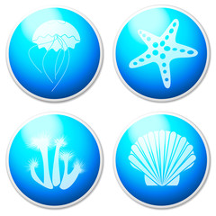 Sea objects & design elements - buttons