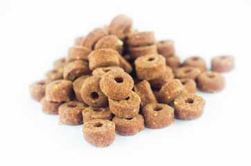Doggy dry food on pile