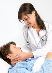 Senior patient and young doctor