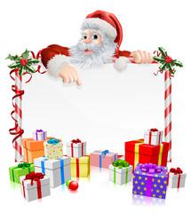 Santa Christmas Gifts Sign