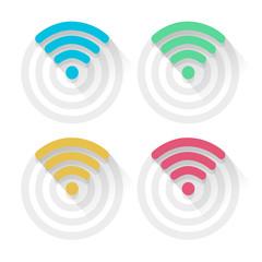 Flat design wifi circle