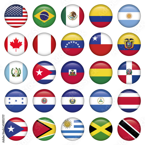 American Flags Round Icons