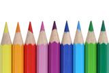 Fototapety Buntstifte für die Schule isoliert