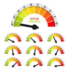 vector energy efficiency chart