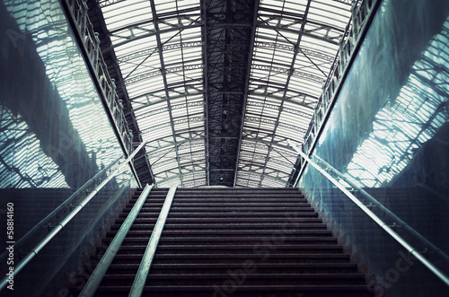 staircase at a railway station