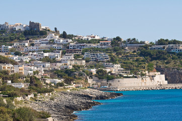 Panoramic view of Castro. Puglia. Italy.