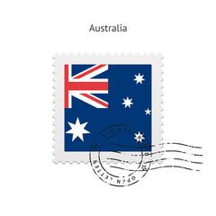 Australia Flag Postage Stamp.