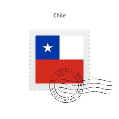 Chile Flag Postage Stamp.