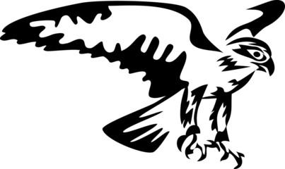 stylized falcon