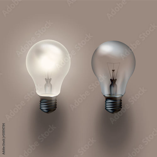 Light bulb. Vector format