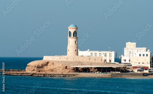 Lighthouse at Sur in Oman. Middle East
