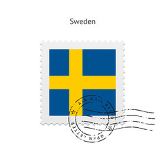Sweden Flag Postage Stamp.