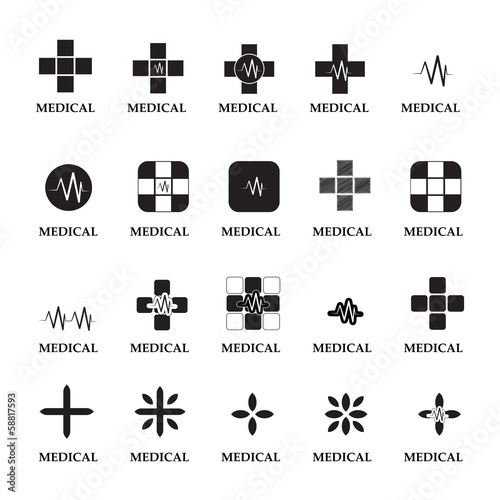 Medical Icons Set - Isolated On White Background