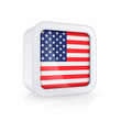 Icon with flag of USA.