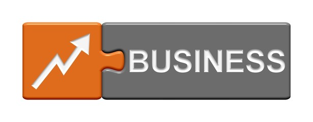 Puzzle-Button orange grau: Business