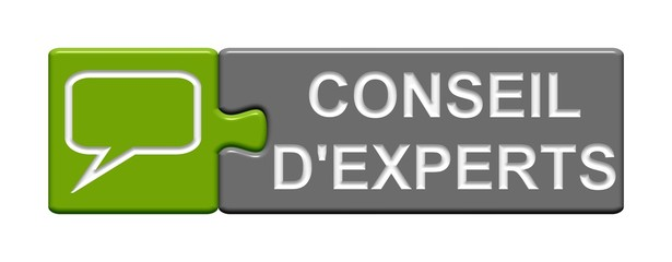 Puzzle-Button grün grau: Conseil d´experts
