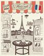 Parisian street restaurant with views of the Eiffel Tower