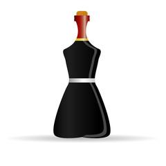 bottle of alcohol color vector illustration