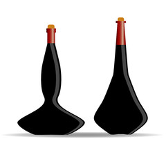 bottle of alcohol vector illustration