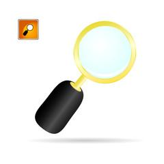 magnifier glass color vector illustration