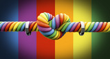 Fototapety Tie The Knot With Rings Gay Marriage