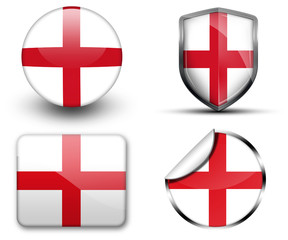England flag button sticker and badge
