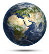 canvas print picture - Planet Earth white isolated