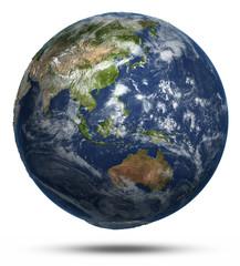 East world map