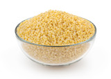 Couscous isolated on white background with clipping path