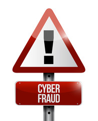 cyber fraud warning illustration design
