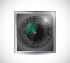 lens camera app button illustration