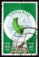 Postage stamp Vanuatu 1980 Tanna Island