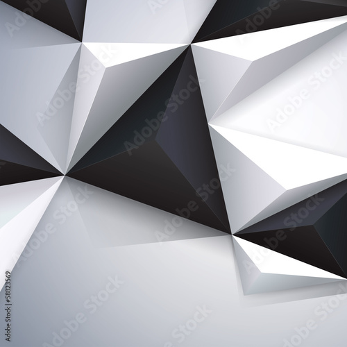 Black and white geometric background. 58823569