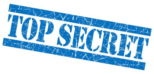 Top secret blue grunge stamp