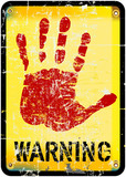 warning sign, vector illustration vector eps 10