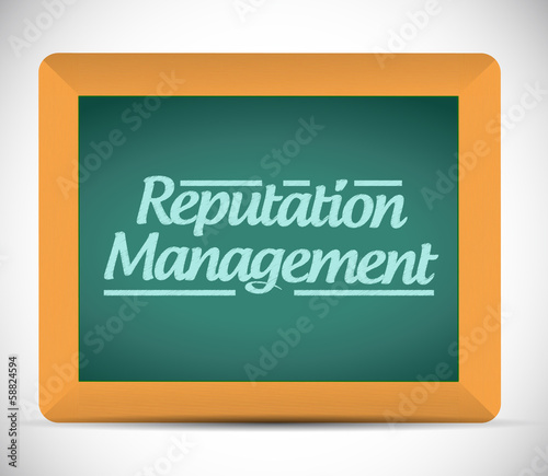 reputation management message sign illustration
