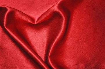 Heart on satin fabric