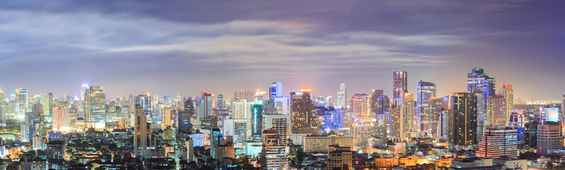 Bangkok downtown Skyline Panorama