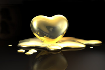 Goldenes Herz - schmelzend