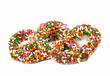 Chocolate covered pretzels with sprinkles