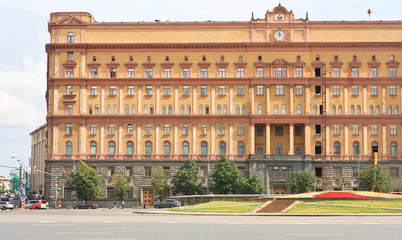 Russian FSB building in Lubyanka Square in Moscow