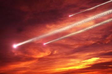 flying meteors