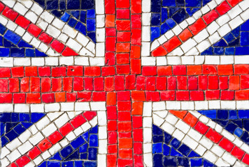 Mosaic of english flag